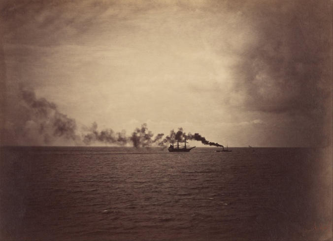 Gustave_Le_Gray_(French_-_Seascape_with_Sailing_Ship_and_Tugboat_-_Google_Art_Project